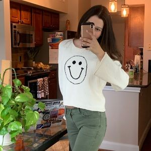Madewell Sweaters - Madewell Smiley Face Pullover Sweater S